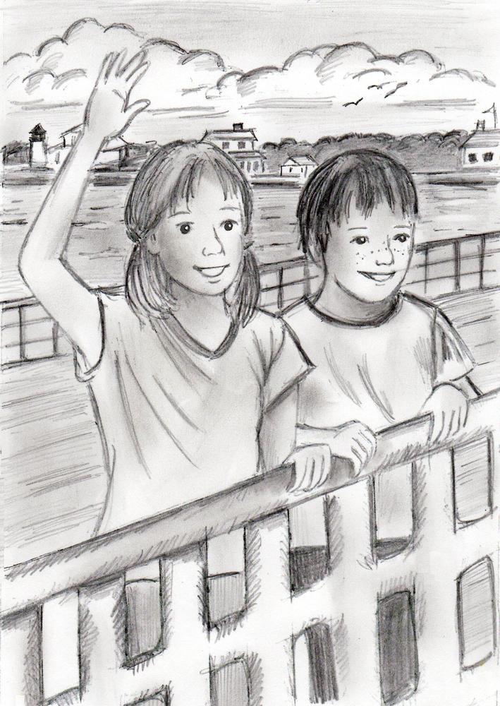 ferry scene